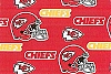 Fleece Kansas City Chiefs NFL Football Sports Team Fleece Fabric Print by the yard (s6274df)