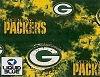Fleece Green Bay Packers Liquid Blue NFL Football Fleece Fabric Print by the yard (s6349df)