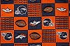 Fleece Denver Broncos Sq NFL Football Fleece Fabric Print by the yard (s6194df)
