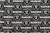 Fleece Oakland Raiders Lines NFL Football Fleece Fabric Print by the yard (s6243df)