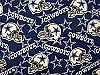 Fleece Dallas Cowboys on Blue NFL Pro Football Sports Team Fleece Fabric Print by the yard (s6245df)