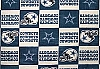Fleece Dallas Cowboys Square NFL Football Fleece Fabric Print by the yard (s6277df)