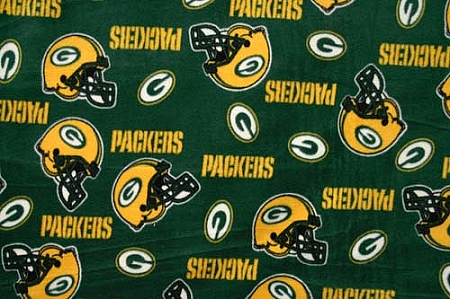 Fleece Not For Masks Green Bay Packers On Green Nfl Pro Football Sports Team Fleece Fabric Print By The Yard S6322df