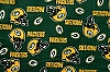 Fleece Green Bay Packers on Green NFL Pro Football Sports Team Fleece Fabric Print by the yard (s6322df)