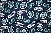 Fleece (not for masks) Seattle Mariners MLB Baseball Fleece Fabric Print by the yard