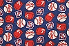 Fleece (not for masks) Philadelphia Phillies MLB Baseball Fleece Fabric Print by the yard