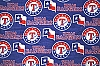 Fleece (not for masks) Texas Rangers MLB Baseball Fleece Fabric Print by the yard