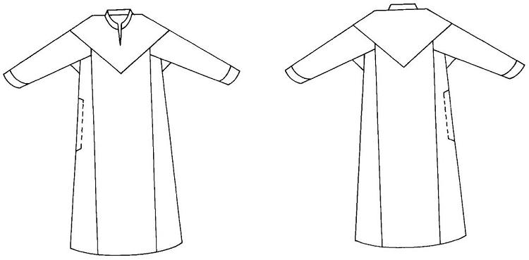 Folkwear #105 Syrian Dress Robe Gown Frock Syria Middle Eastern ...