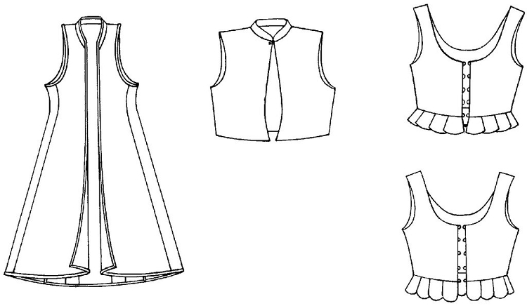 Folkwear #126 Vests from Greece & Poland Polish Greek Waistcoat ...