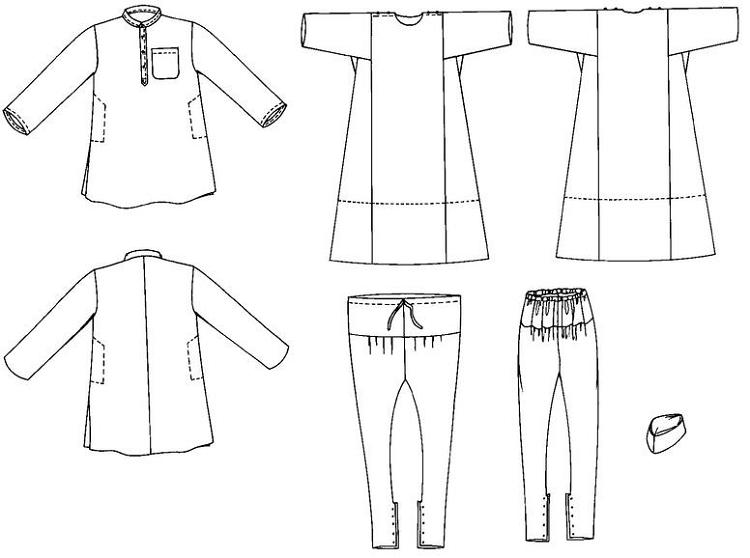Folkwear Jewels of India Kurta Shirt Kamiz Tunic Churidar Pants ...