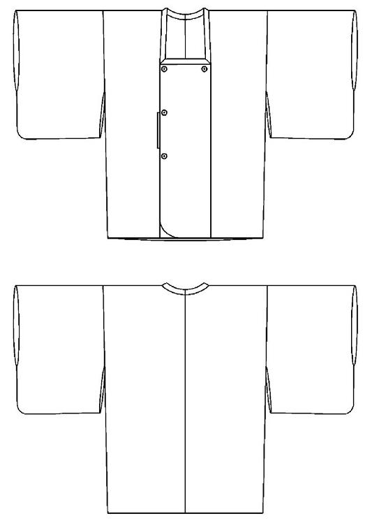 Folkwear #143 Japanese Michiyuki Kimono-style Jacket Coat Smock ...