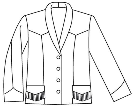 Folkwear Rodeo Cowgirl Jacket #242 Western Jacket Coat Wild West ...