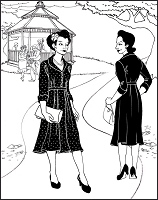 Folkwear #247 Lindy Shirtdress 1940's Dress Frock Sewing Pattern (Pattern Only) folkwear247