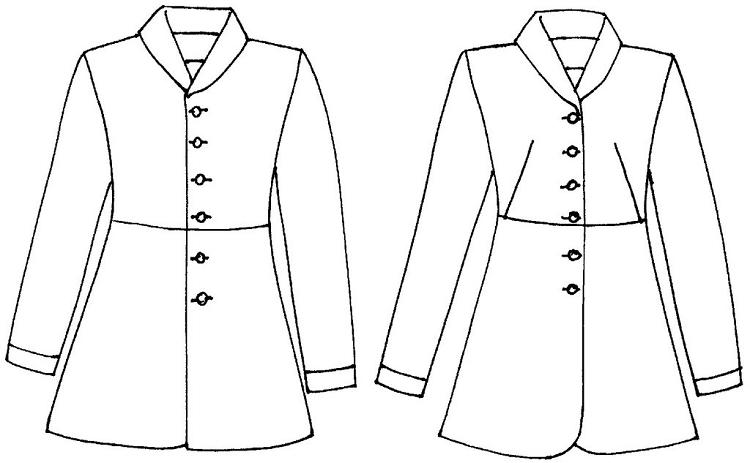 Folkwear Countryside Frock Coat #263 Traditional Jacket Riding ...