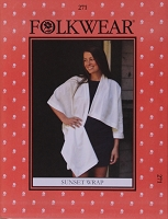 Folkwear Sunset Wrap #271 One-Arm Wrap Shawl Sewing Pattern (Pattern Only) folkwear271