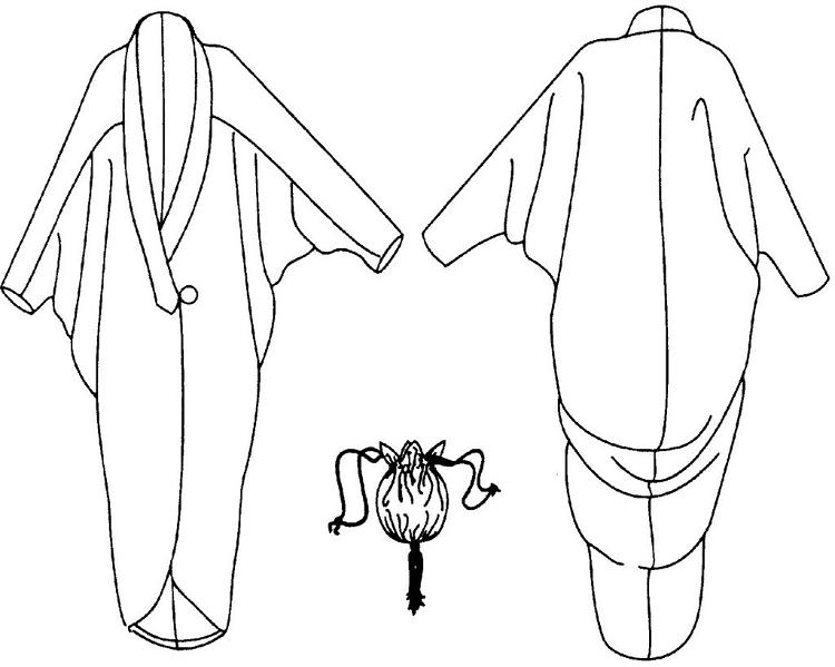 Folkwear Poiret Cocoon Coat #503 Early 1900\'s Era Bat-wing Jacket ...