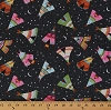 Cotton Southwestern Camping Tents Teepee Tepee Campfire Stars Moon Tenting Vacation Under the Stars Cotton Fabric Print by the Yard (fun-c3583)