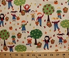 Cotton Apple Picking Kids Children Boys Girls Apples Apple Trees Orchards Fall Autumn Country Fruit Harvest Cream Cotton Fabric Print by the Yard (gail-c2650-cream)