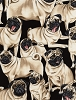 Pugs Fawn Pug Dogs Puppy Puppies Pets Animals Allover on Black Cotton Fabric Print by the Yard (GM-C2488-Pug)