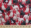 Cotton French Bulldogs Frenchies Dogs Puppy Puppies Canine Animals Pets on Red Cotton Fabric Print by the Yard (gm-c3048)