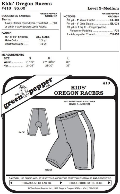 Children Kids Oregon Racers Biking Running Bicycle Shorts #410 ...