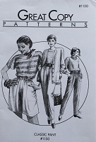 Great Copy 1150 Classic Pant Pants Shorts Sewing Pattern (Pattern Only)