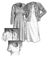 Great Copy 1270 Silhouette Dress and Cardigan Sewing Pattern (Pattern Only)