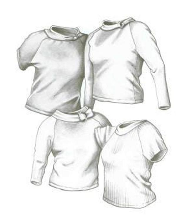 Great Copy 2400 Raglan Tops Sewing Pattern (Pattern Only)