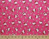 Hello Kitty Flower Toss Pink Girls Kids Cotton Flannel Fabric Print (42489-C470710)