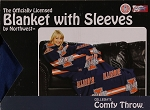 Comfy Throw Fleece Blanket w/ Sleeves Licensed College- Illinois Fighting Illini