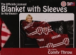 Comfy Throw Fleece Blanket with Sleeves Licensed College Emblem Indiana Hoosiers