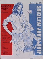 Jean Hardy 1017 Misses' Tops Ladies Blouses Tops Shirts Sewing Pattern (jeanhardy1017)