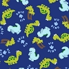 VelvaFleece Big Dino Dinosaurs Children's Kids Fleece Fabric Print by the Yard k35979-Xb