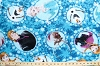 Disney Frozen Characters Framed Blue Fleece Fabric Print by the Yard k51870-1600710s