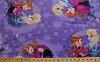 Disney Frozen Character Elsa & Anna Sisters Skating on Light Purple Fleece Fabric Print by the Yard k53319-D430710s