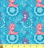 Cute Care Bears Blue Childrens Kids Fleece Fabric Print by the Yard k75146bt