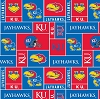 University of Kansas™ Jayhawks™College  Fleece Fabric Print