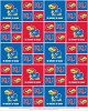 Cotton University of Kansas Jayhawks College Team Cotton Fabric Print (ks-020)