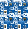 University of Kentucky™ Wildcats™ College Fleece Fabric Print