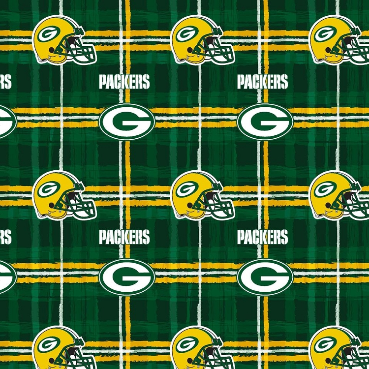 Flannel Green Bay Packers Nfl Professional Football Sports Team Flannel Fabric Print L6427d