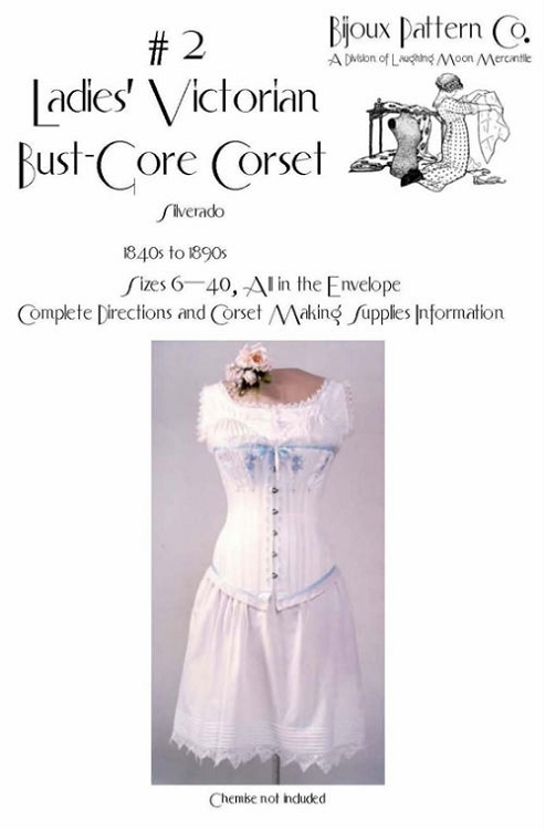 Ladies Victorian Bust Gore Corset 1840\'s -1890\'s Sewing Pattern #2 ...