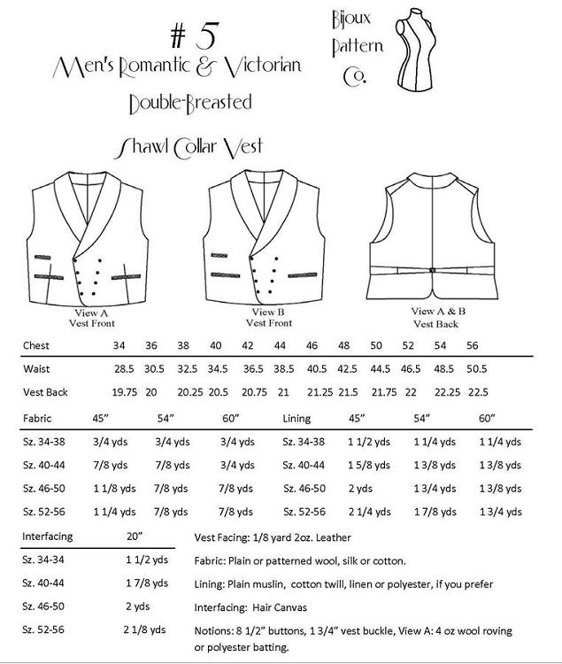 Mens Vest Sewing Pattern - Pattern Design Inspiration