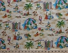 Cotton Beach Frogs Crabs Snails Animals Kids Summer Tropical Ribbit Cotton Fabric Print by the Yard (m-9k)