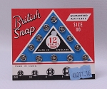 12 Count British Snaps - Silver Size 00 Rustless Quality Snaps Antique Vintage Garment Fasteners (M211.16)