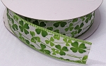 Glitter Ribbon - Shamrock Wire Edge - 1.5