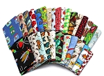 10 Fat Quarters - Assorted Bugs Insects Creepy Crawlies Beetles Moths Butterflies Ants Spiders Quality Quilters Cotton Fabric Bundle M229.05