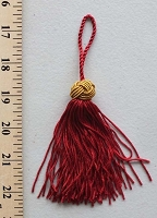 25 PACK - Decorator Tassels Rayon/Cotton Tassel - Red (100259-Red)