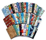 10 Fat Quarters - Assorted Beach Lakeside Sunbathing Swimming Swimmers Summer Fun Vacation Birds Sand Palms Seaside Beachcombers Ocean Waves Quality Quilters Cotton Fabrics M491.11