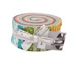Jelly Roll All Weather Friends Patterned Brights Aqua Red Yellow Green Blue Spots Checks Flowers 2.5