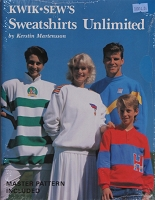 Kwik Sew's Sweatshirts Unlimited Sewing Instructions Book by Kerstin Martensson Master Pattern Included (M516.06)